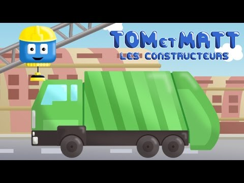 camion poubelle tom matt les vehicules constructeurs jeux de construction pour enfant. Black Bedroom Furniture Sets. Home Design Ideas