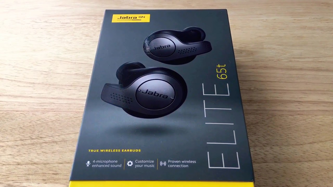 Jabra Elite 65T True Bluetooth Wireless Earbuds & Charging Case Unboxing