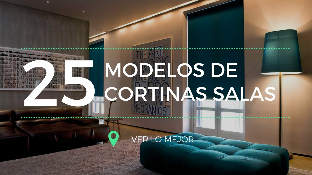 25 modelos de cortinas para salas youtube - Tendencias cortinas 2017 ...
