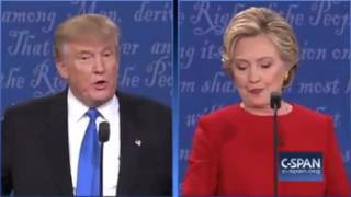 Hillary Clinton and Donald Trump first Presidential Debate on economy 9/26/16