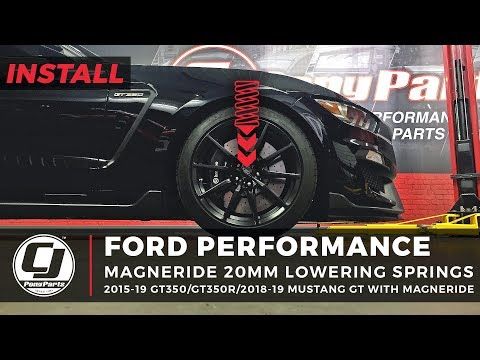 Mustang GT350 Install: Ford Performance 20mm Lowering Springs
