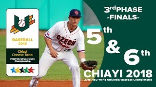 🔴ᴴᴰ世大棒::FINALS 5-6名:: RUS vs CZE ::2018 FISU WORLD UNIVERSITY BASEBALL CHAMPIONSHIP