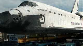 Space Shuttle Endeavour on Crenshaw bl. in L.A.