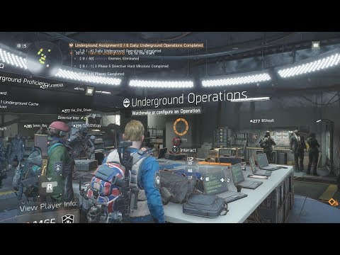 The Division 1.8 - Underground Operation New Directives - Gameplay Walkthrough