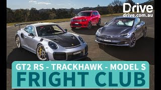 Fright Club: Porsche GT2 RS | Tesla Model S | Jeep Trackhawk