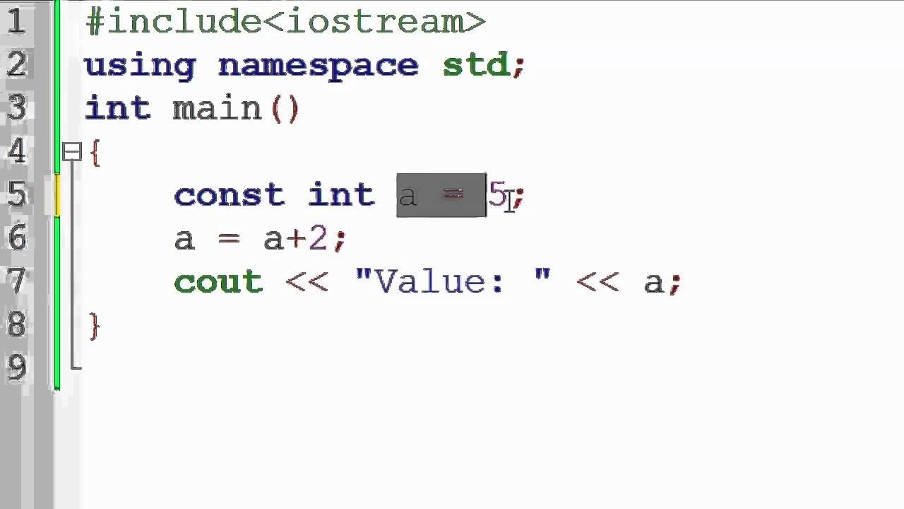 83  Constant Variable in C++ (Hindi) Back-End Programming