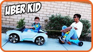 BAD KIDS Picking Up Uber Riders In a Power Wheels (Skit) - TigerBox HD