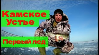 Камское Устье Первый лед 2018-2019гг. Куйбышевское водохранилище рыбалка на судака и берша!