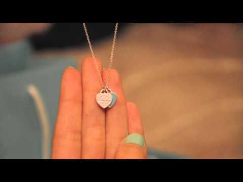 be98bc686 Tiffany Double Heart Tag Pendant - YouTube