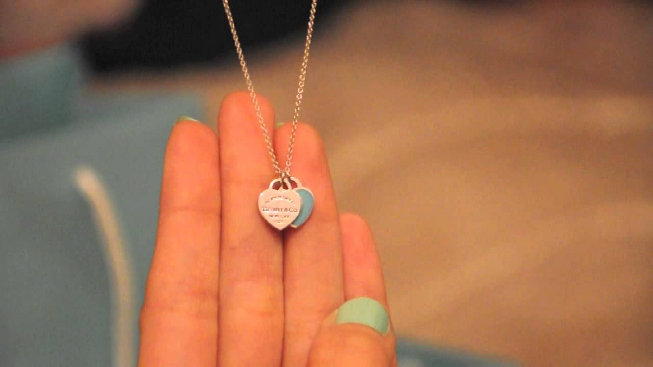 b06c847c4 Tiffany Double Heart Tag Pendant - YouTube
