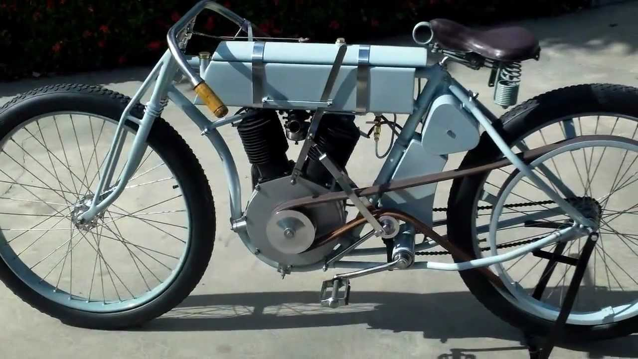1908 Harley V Twin Board Track Racer From Scratch Youtube