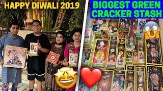 BURNING LARGEST GREEN CRACKERS STASH EVER - HAPPY DIWALI 2019