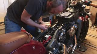 Indian Scout - How To: Change spark plugs