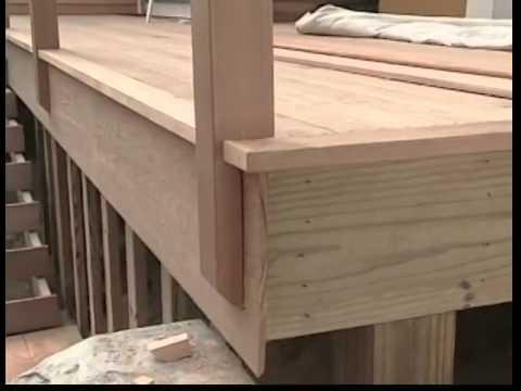 Installing Cedar Deck Railings Youtube