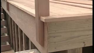 Installing Cedar Deck Railings