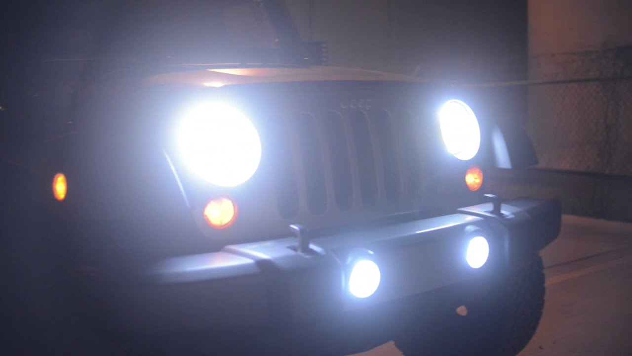 jeep wrangler with oracle lighting products