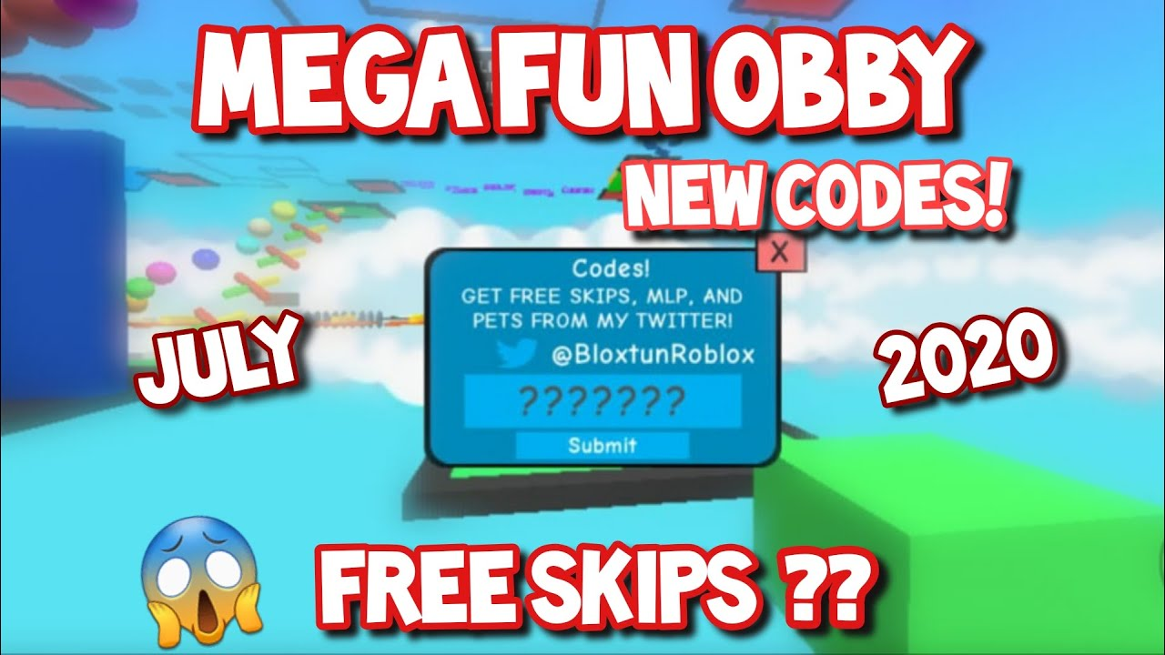 All New Working Codes For Mega Fun Obby Roblox 2020 Youtube