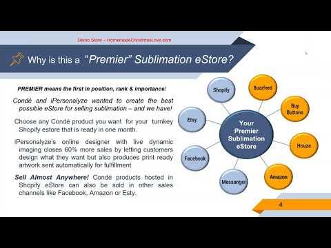 Condé Systems & iPersonalyze Presents: The Premier Sublimation eStore Webinar