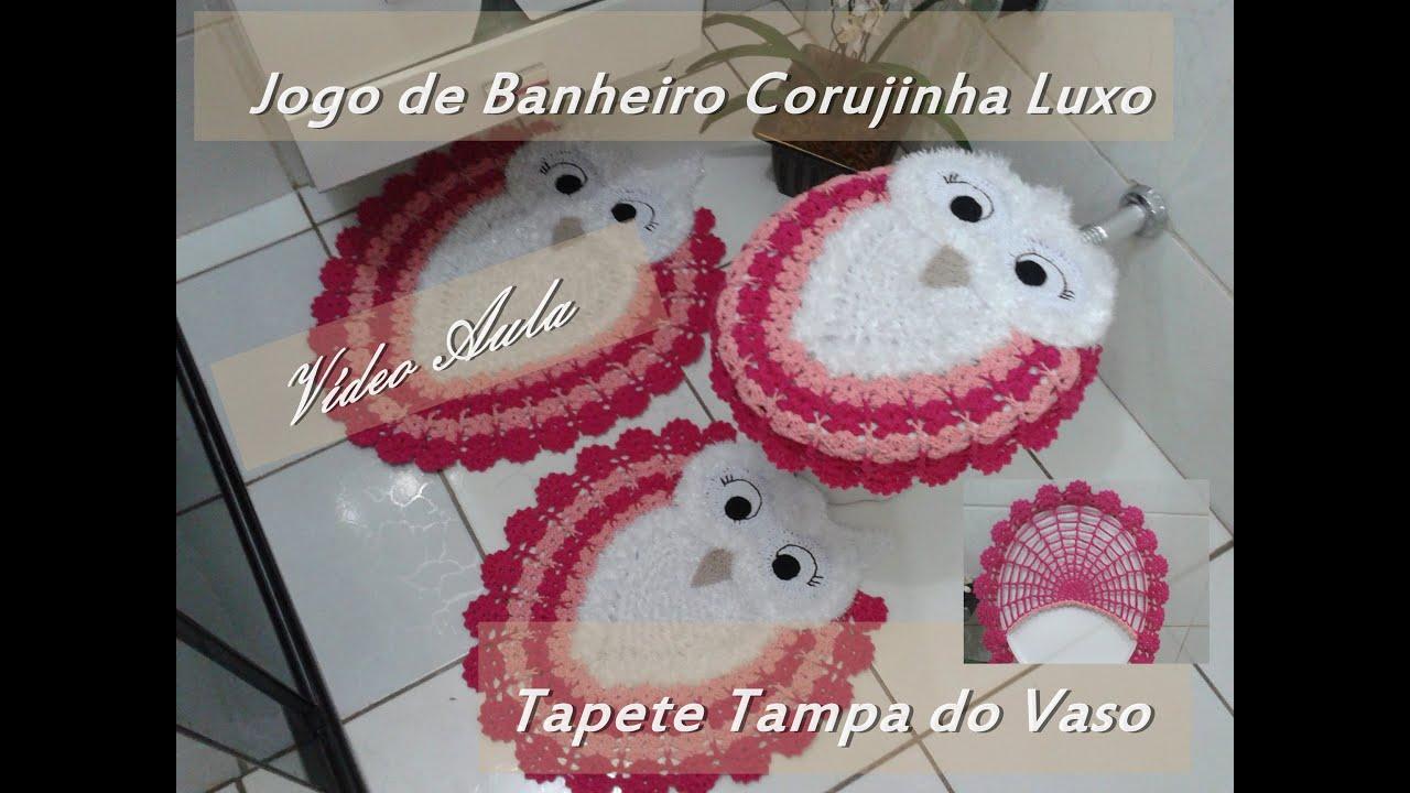 Jogos De Decorar Banheiros De Luxo : Jogo de banheiro corujinha luxo quot tapete tampa do vaso