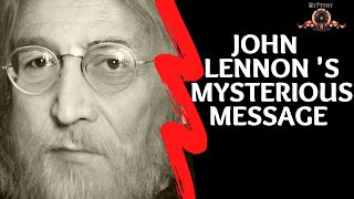 Lennon's  Mysterious Message - The secret message that John  left for Ringo on a lost demo tape