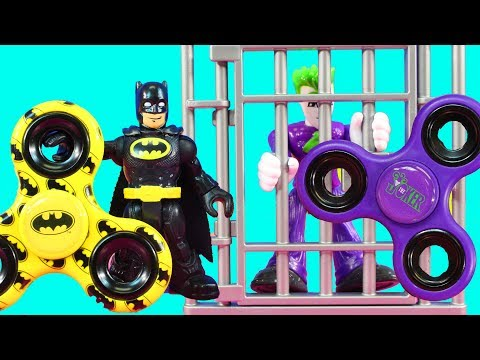 Imaginext Joker Gets Arrested For Using A Fidget Spinner Again In Park With Toy Batman Spin-Off