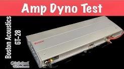 Italian Power? 2004 Boston Acoustics GT-28 Amp Dyno Test