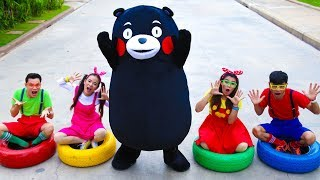 Five Little Babies Jumping on The Bed | Kids Song with Black Bear