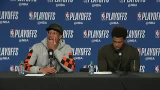 Demar DeRozan and Kyle Lowry Postgame Presser   Cavaliers vs Raptors Game 2