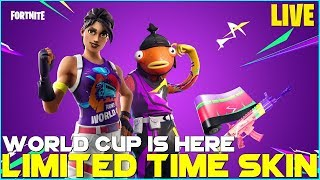 FORTNITE - LIMITED TIME WORLD CUP SKIN - HAPPY WORLD CUP DAY 1