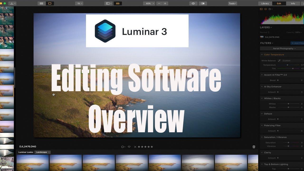 DJI Drone Photo Editing Software - Skylum Luminar 3 Overview & Features