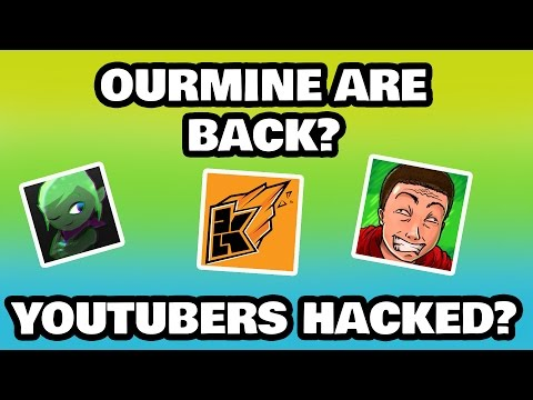 Our mine are back? Leafy, idubbz, and smithplays HACKED? (Ourmine are back prank)