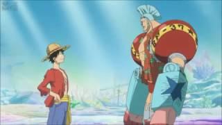 D. Luffy ve Franky arasında geçen alakasız diyalog