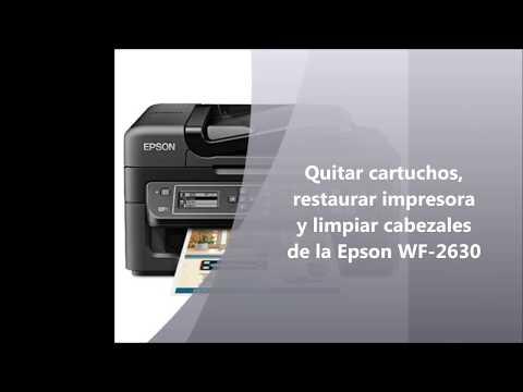 Restaurar impresora y limpiar cartuchos de la Epson WF2630