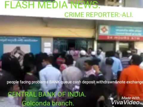 CENTRAL BANK OF INDIA/Golconda branch/flash media news/crime reporter:-ALI.