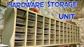 Hardware and small parts storage unit
