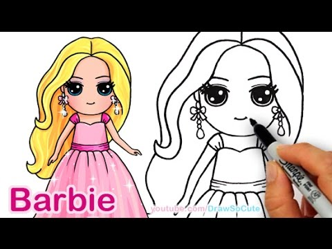 How To Draw Barbie Cute Step By Step Draw So Cute Girl Youtube