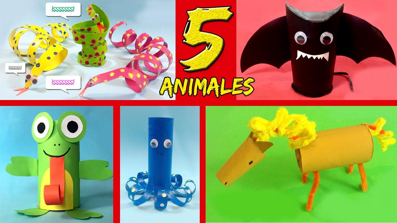 5 animales con tubos de papel higi nico ideas de for En juego largo hay desquite