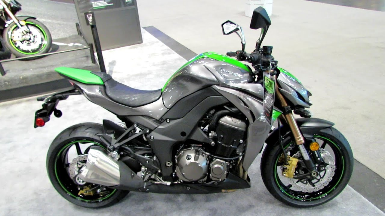 2014 Kawasaki Z1000 Walkaround - 2013 NY Motorcycle Show - YouTube