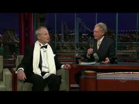David Letterman and Bill Murray in tuxedo
