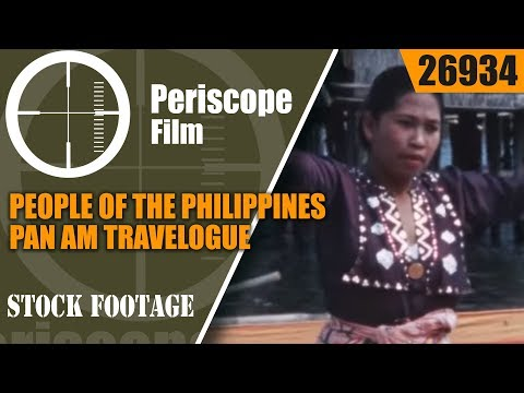 (Italian Language) 1960s PAN AM AIRLINESMANILA PHILIPPINES TRAVELOGUE MOVIE26934