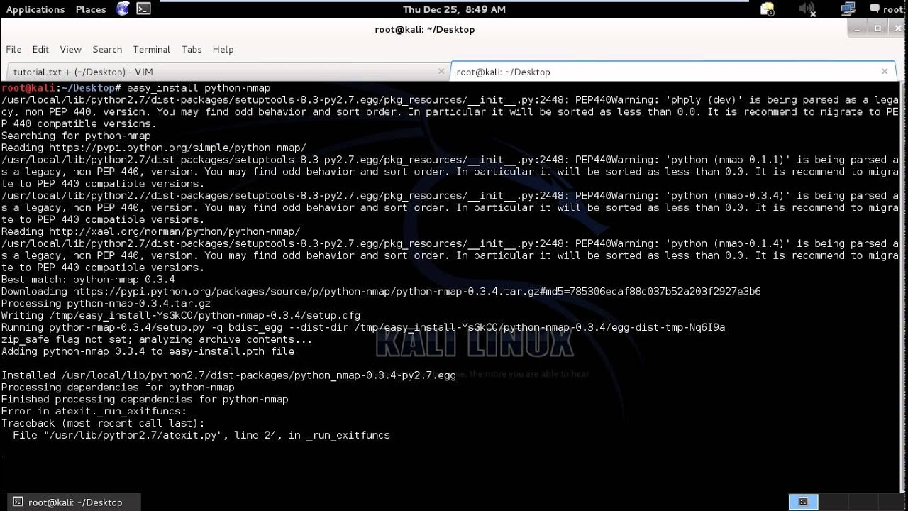 How To Installing Python Packages Kali Linux