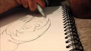 how to draw vexy smurf