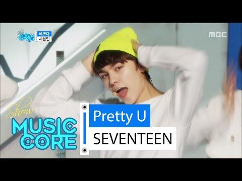 [Comeback stage] SEVENTEEN - Pretty U, 세븐틴 - 예쁘다 Show Music core 20160430