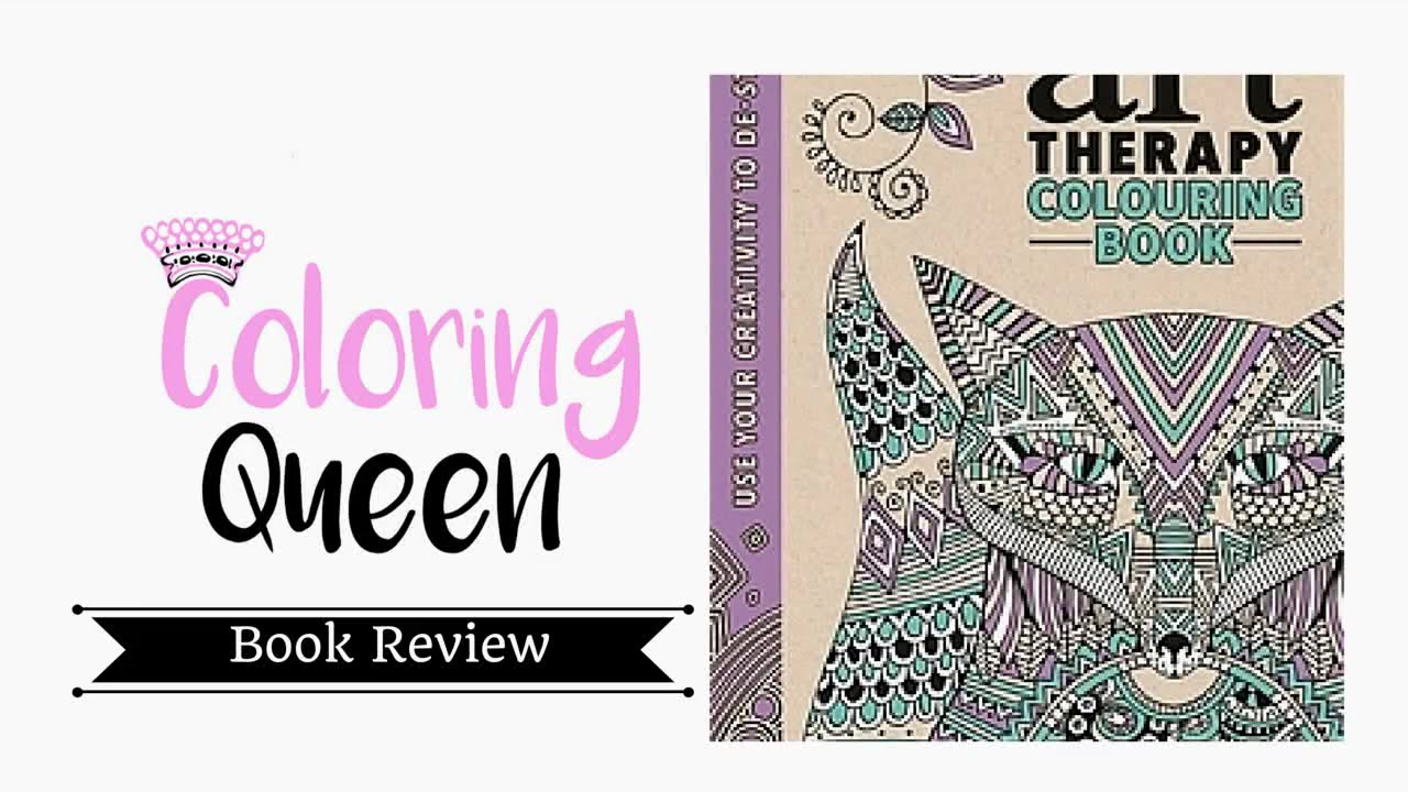 Art therapy coloring book michael omara - Art Therapy An Anti Stress Colouring Book Adult Colouring Book Review
