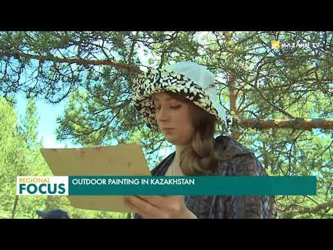 Outdoor painting in Kazakhstan