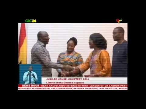 Jubilee House: Liberian Vice President calls on Vice President Dr. Mahamudu Bawumia