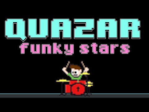 Quazar - Funky Stars (Blind Drum Cover) -- The8BitDrummer