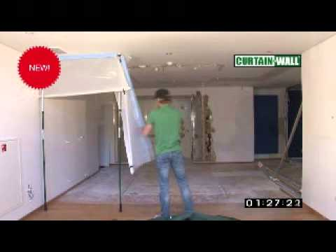 Curtain-Wall Temporary Dust Control Wall