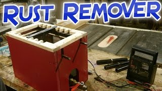 Electrolysis rust removal unit