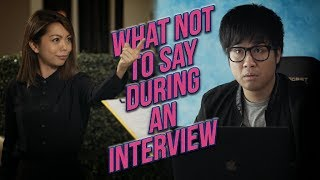 connectYoutube - What Not To Say In A Job Interview